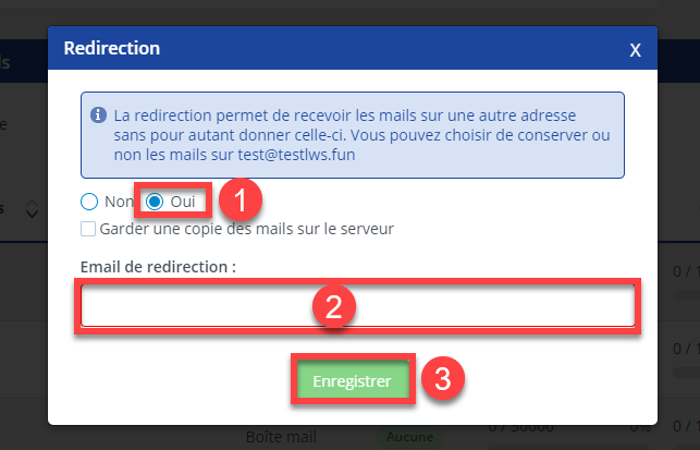 Comment créer une redirection email ?